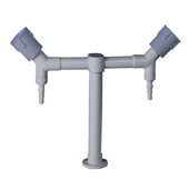 double outlet water faucet